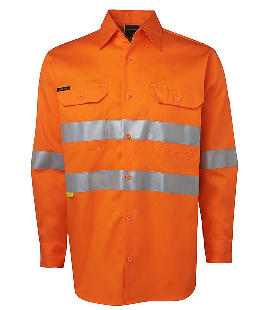 Hi Vis L/S (D+N) 150G Work Shirt - Orange