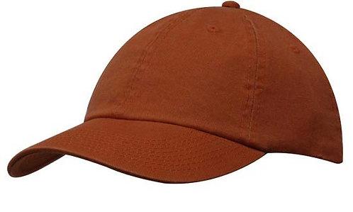 Washed Chino Twill Cap Rust- MOQ 10