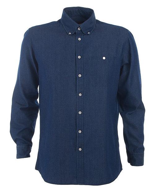 Men's Dylan Long Sleeve Denim Shirt - Indigo Blue