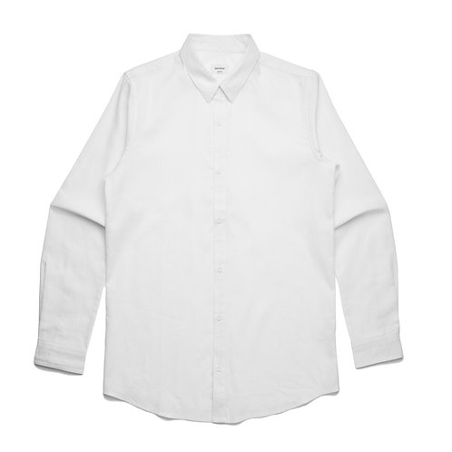 AS Colour Cotton/Linen Shirt White - Available from