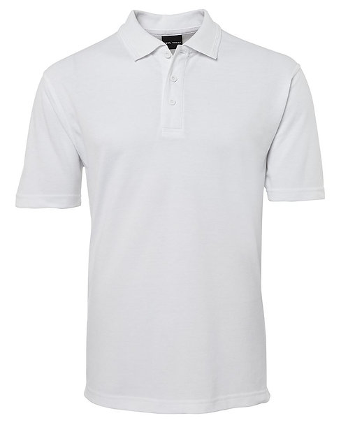 Mens Basic Pique Polo SS White -6/7XL Available