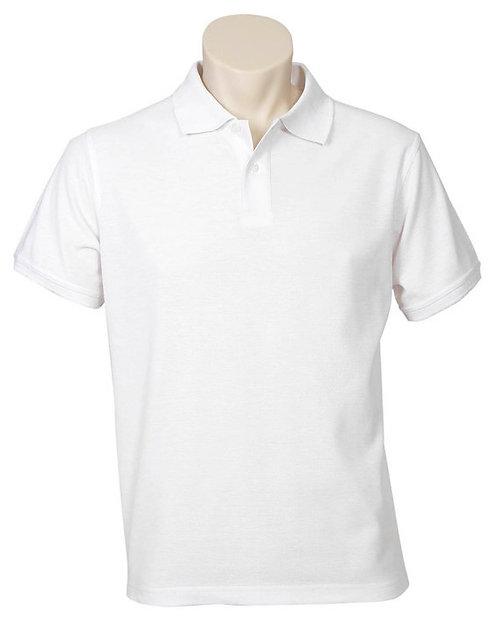 Mens Neon Premium Pique Polo - White