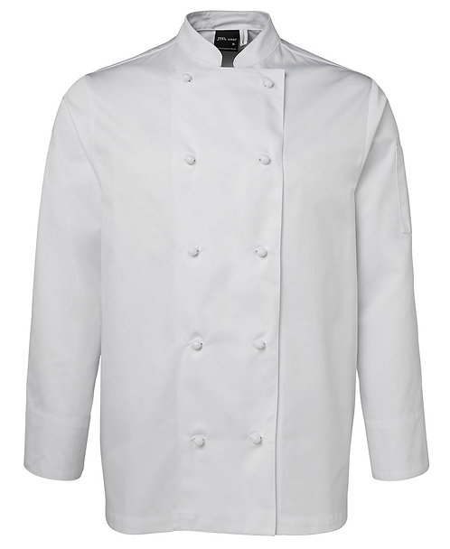 Unisex LS Chef's Jacket  - White