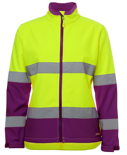 Womens Hi Vis D+N Water Resistant Soft - Lime/Mulberry
