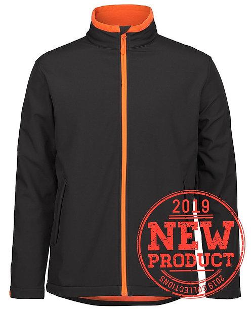 Podium Water Resistant Soft Shell Jacket - Black/Orange