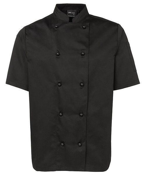 Unisex SS Chef's Jacket - Black