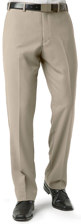 Mens Classic Flat Front Pant - Taupe