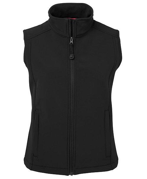 Ladies Layer Soft Shell Vest Black