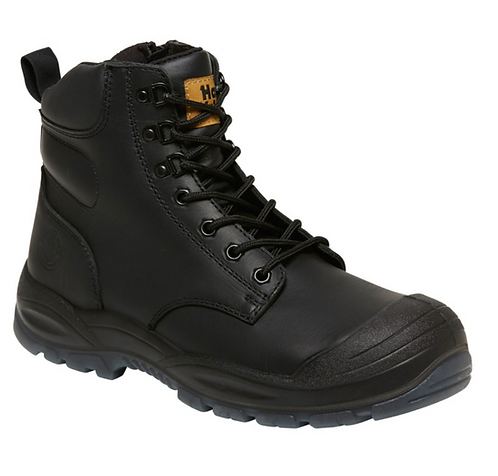 Hard Yakka Utility 6Z 150mm (6 Inch) Side Zip Boot -  Black