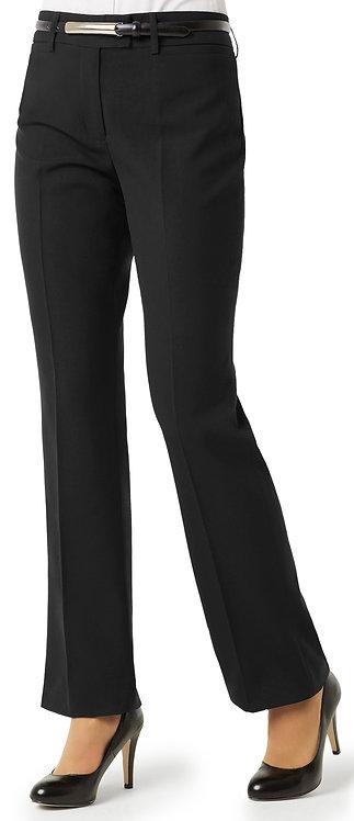 Womens Classic Flat Front Pant - Black