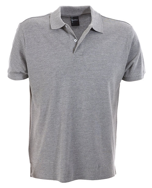 Mens Slim Fit Venice Polo - Grey Marle MOQ 2