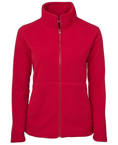 Ladies Full Zip Polar Red