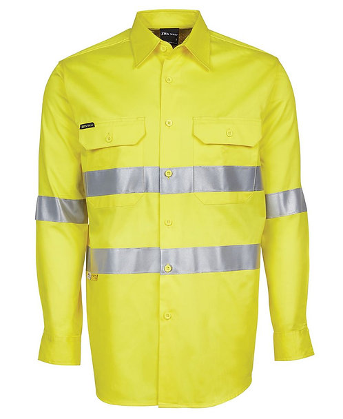 Hi Vis L/S (D+N) 150G Work Shirt - Yellow