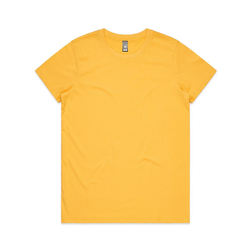 AS Colour Womens Maple Tee - Yellow