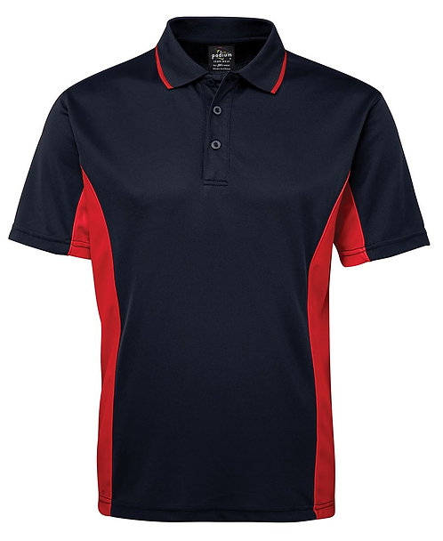 Mens Podium Contrast Polo - Navy/Red