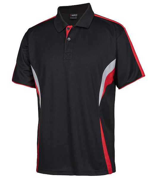 Cool Polo - Black/Red/White