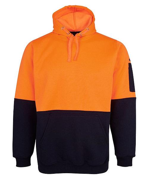 Hi Vis 280G Pull Over Hoodie - Orange/Navy