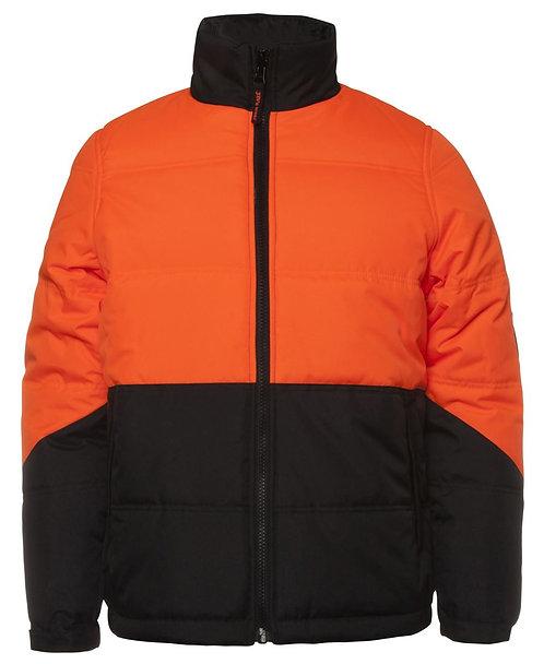 Hi-Vis Puffer Jacket - Orange/Black