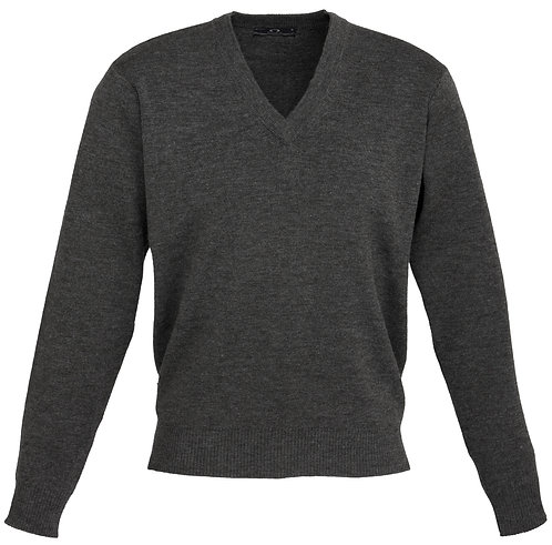 Mens 50/50 Woolmix Pullover - Charcoal