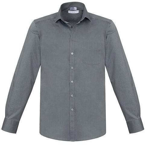 Mens Monaco LS Shirt - Charcoal