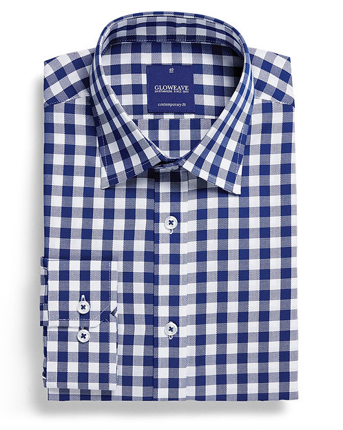 Mens Oxford Gingham Shirt Navy