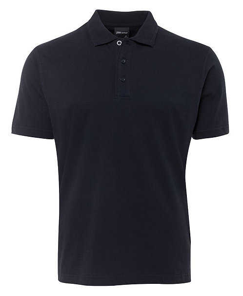 100% Cotton Jersey Polo - Navy