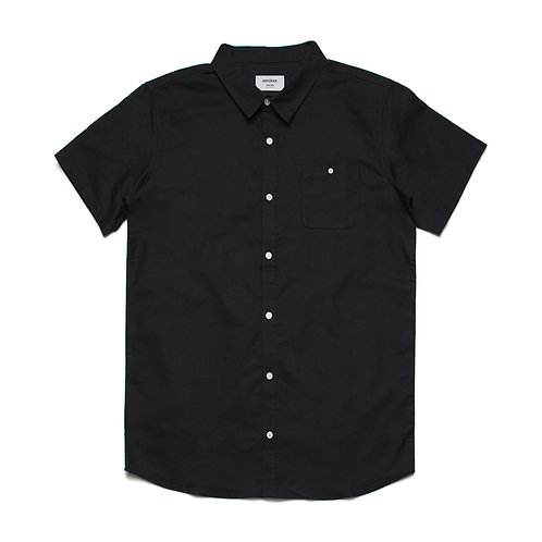 AS Colour Mens S/S 100% Cotton Shirt Black - Available from