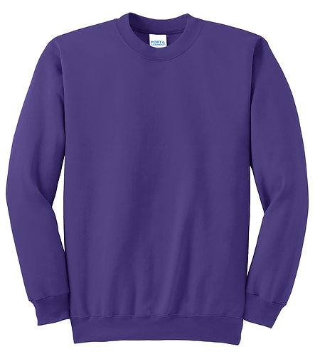 Essential Fleece Crewneck Sweatshirt Purple - MOQ10