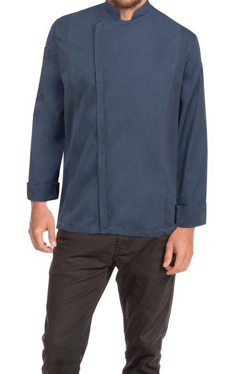 Mens Hartford Zipper Chef Jacket - Blue