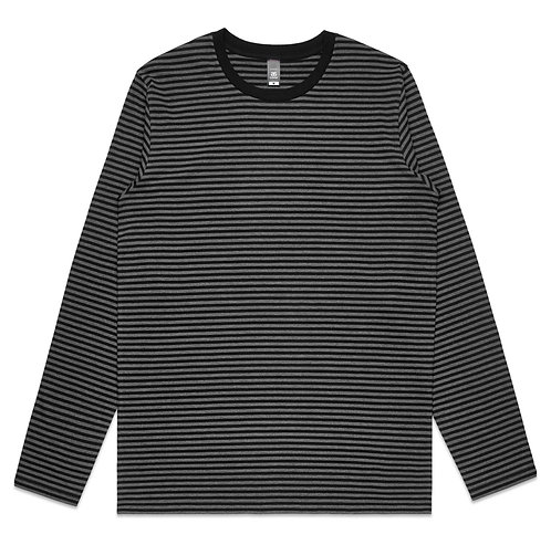 AS Colour Mens Bowery Stripe L/S Tee Asphalt/Black: Available From