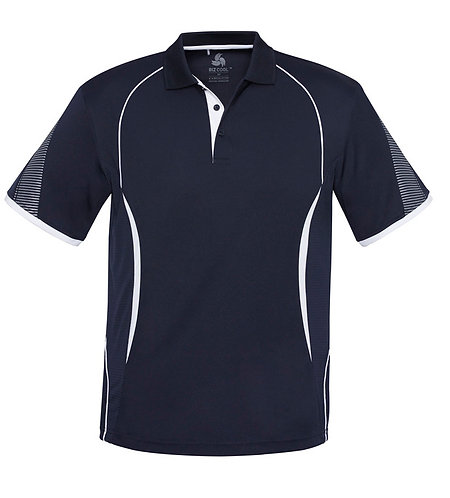 Mens Razor Polo - Navy/White