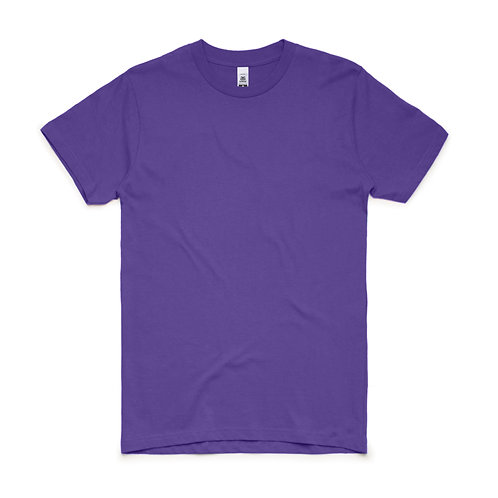 AS Colour Block Tee Purple - From