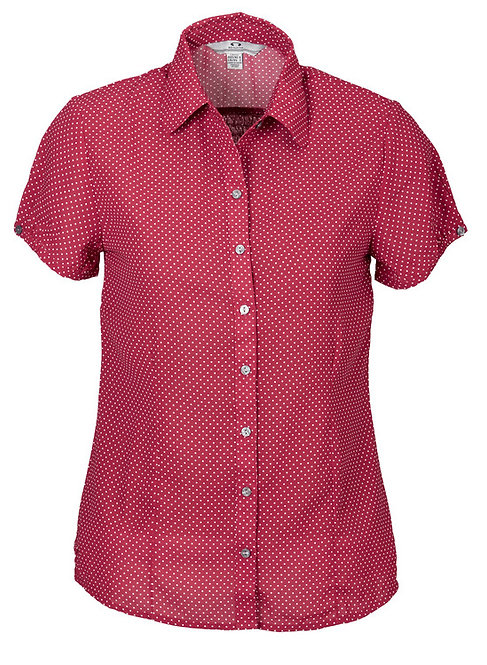 Ladies Ruby Blouse - Cherry/White
