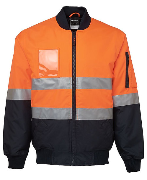 Hi Vis (D+N) Flying Jacket - Orange/Navy