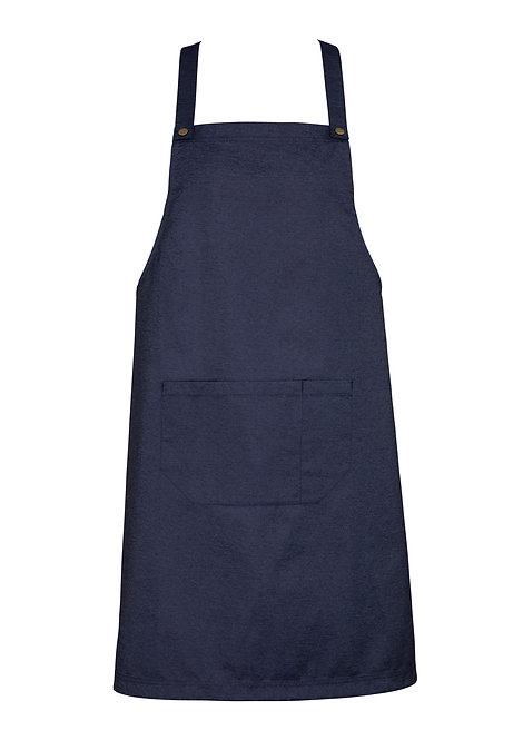 Blue Denim Easy Bib Apron with Changeable Straps