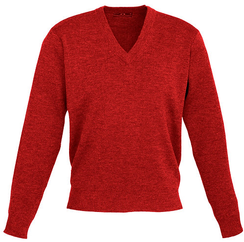 Mens 50/50 Woolmix Pullover - Red
