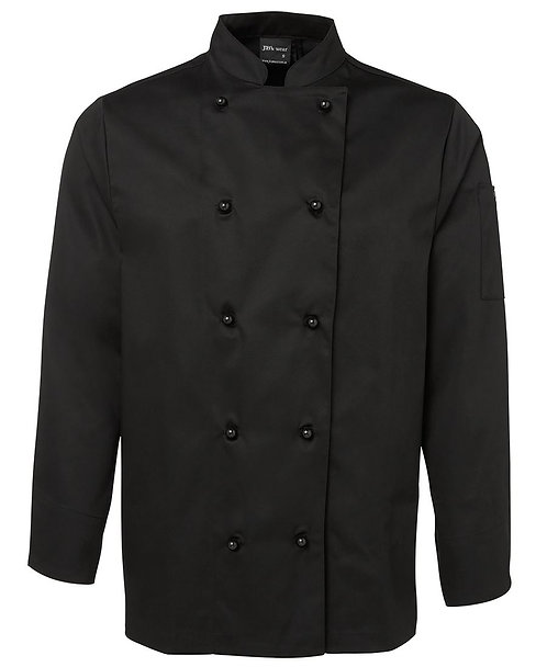 Unisex LS Chef's Jacket - Black
