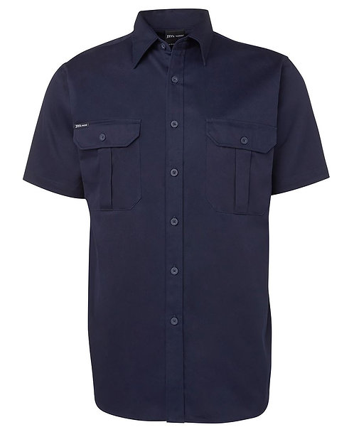 JB's S/S 190G Work Shirt - Navy