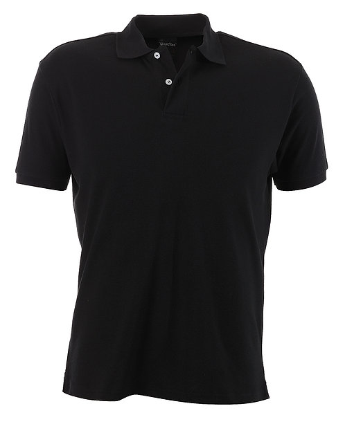 Mens Slim Fit Venice Polo - Black
