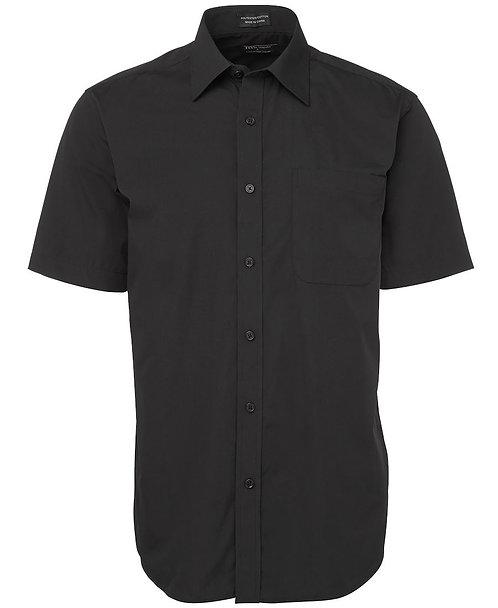 Mens SS Poplin Shirt - Black