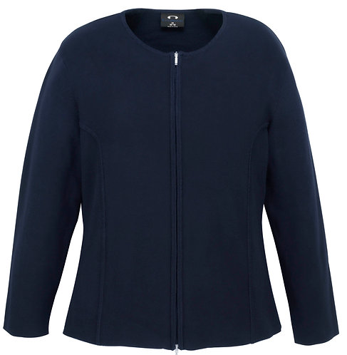 Womens 2-Way Zip Cardigan - Navy