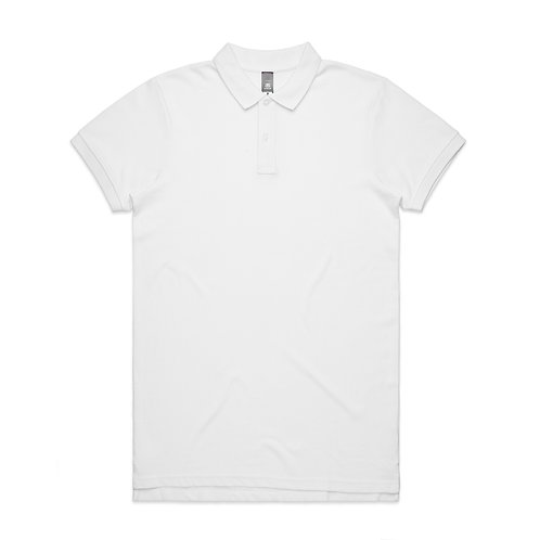 AS Colour Mens Pique Polo White 100% Cotton - Available From