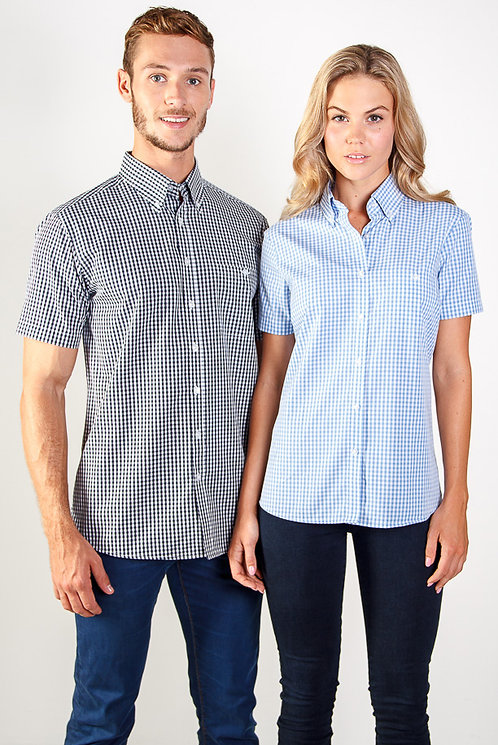 Ladies Miller Short Sleeve Shirt- MOQ 3 (5 Colours Available)