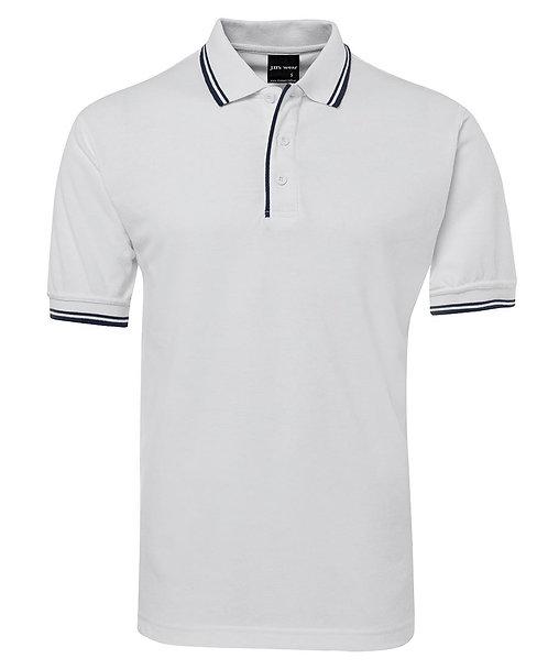Mens Contrast Polo - White/Black