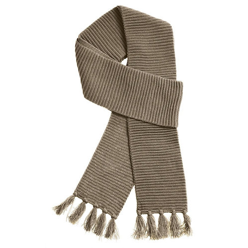 Ruga Knit Scarf Taupe- MOQ 10