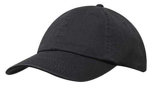 Washed Chino Twill Cap Charcoal- MOQ 10