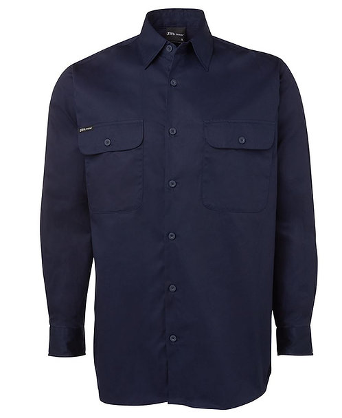 JB's L/S 150G Work Shirt -Navy