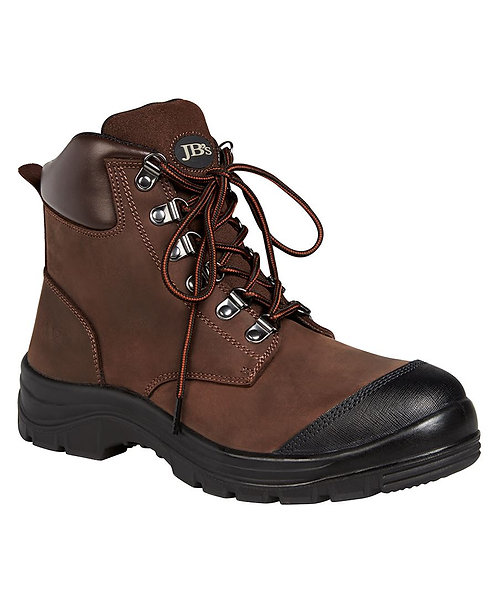JB's Lace Up Safety Boot - Brown