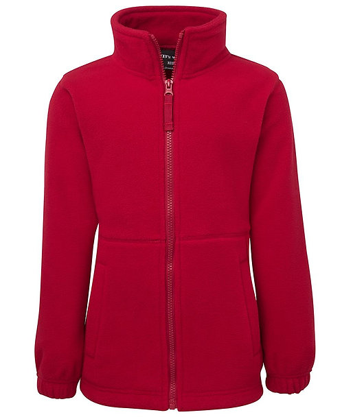 Men's Full Zip Polar Red
