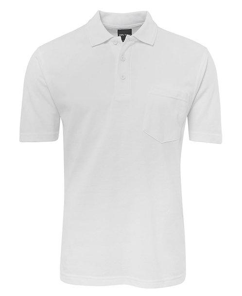 Adults Pocket Polo - White